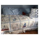 daybed & sailboat quilt