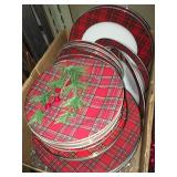 plaid Christmas/cabin china