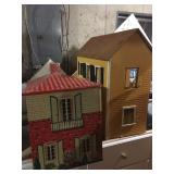 old dollhouses w/ furniture