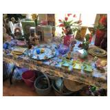 lots of Easter decor & serving pieces