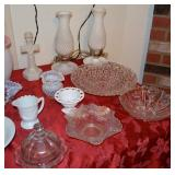 Tables of Vintage Glass