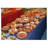 Tables of MARIGOLD Carnival glass