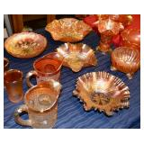 Tables of Carnival Glass
