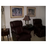 2 LEATHER LA-Z-BOY RECLINERS