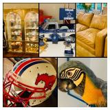 Sports Memorabilia, Stueben, Tiffany, Parrots, Leather, Modern, Golf, Collectibles, Outdoor and More!