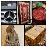 Chinese, Native American, Pre Columbian, Fiestaware, Jewelry, Mercedes Benz, Coins & More!