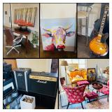 Incredible Springtown Estate Sale! Upscale Furnishings, Guitar, G Harvey, Leather & Much More!