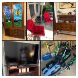 Incredible NRH Estate Sale! Stained Glass, Native American, Black Stone Grill, Outdoor, Accents..
