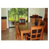 Dining table w/leaf+6 chairs
