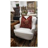 white arm chairs