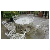 3 sets of cast iron patio sets