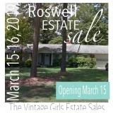50% OFF! Full Home Estate Sale in Roswell, Off Warsaw, March 15-16, 2019