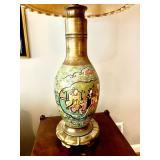 Asian Brass Cloisonné Lamps