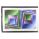 "Victor Vasarely ""XONAU II"" Serigraph"