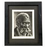 """Thomas Hart Benton """"Aaron"""" Lithograph"""