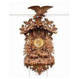 Monumental Black Forest Carved Cuckoo Clock