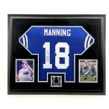 PEYTON MANNING HOF AUTOGRAPHED BLUE INDIANAPOLIS COLTS