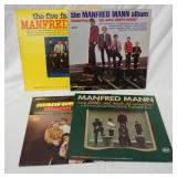 1018LOT OF FOUR MANFRED MANN ALBUMS; THE FIVE FACES OF, SELF TITLED, MY LITTLE RED BOOK OF WINNERS