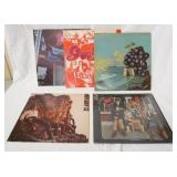 1050LOT OF FIVE MOBY GRAPE ALBUMS; SELF TITLED (COMES WITH POSTER) WOW (GATEFOLD) GRAPE JAM, TRULY