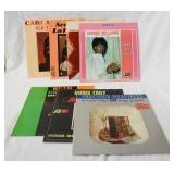 1051LOT OF SEVEN ALBUMS ON ATALANTIC RECORD LABEL; CARLA THOMAS GEE WHIZ, LAVERN BAKER SEE SEE RIDE