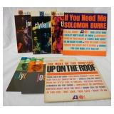 1053LOT OF SEVEN R & B ALBUM REISSUES ON ATLANTIC LABEL;  THREE ARE THE DRIFTERS, CLYDE MCPHATTER L
