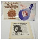 1074LOT OF THREE RADIO STATION RECORDS; NOW FROM THE MOODY BLUES... RAY THOMAS DISCUSSES THE RECORD