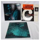 1081LOT OF THREE JAZZ RECORDS ON BLUE NOTE; GRANT GREEN I AM BLUE, JOHNNY COLES LITTLE JOHNNY & HER