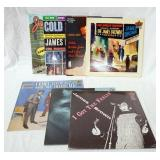 1086LOT OF SEVEN JAMES BROWN ALBUMS; LIVE AT THE GARDEN, THINKING ABOUT LITTLE WILLIE JOHN & A FEW