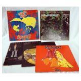 1091LOT OF FIVE ROCK ALBUMS; TWO HP LOVECRAFT (ONE IS GATEFOLD) KALEIDOSCOPE (GATEFOLD), REJOICE! &