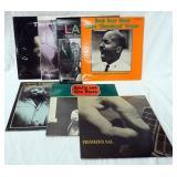 1102LOT OF SEVEN JAZZ ALBUMS; JUNIOR MANCE TRIO JUNIORS BLUES, LENNIE TRISTANO JAZZ RECORD SERIES,