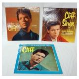 1105LOT OF THREE CLIFF RICHARDS ALBUMS; LISTEN TO CLIFF! CLIFF SINGS & THE CLIFF RICHARDS STORY VOL