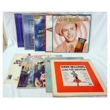 1113LOT OF NINE HANK WILLIAMS ALBUMS; MEMORIAL ALBUM (TWO COPIES) HANK WILLIAMS ON THE AIR, HANK WI