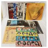1136LOT OF 10 THE ROLLING STONES ALBUMS PLUS CURRENT AUDIO MAGAZINE VOL. 1 W/ MICK JAGGER (GATEFOLD