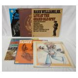 1144LOT OF SIX BLUES ALBUMS; HANK WILLIAMS, SR. LIVE AT THE GRAND OLE OPRY, ALBERT COLLINS LOVE CAN
