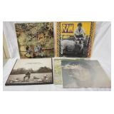 1154LOT OF FIVE ALBUMS; GEORGE HARRISON ALL THINGS MUST PASS ( 3 LPS, COMES WITH POSTER) JOHN LENNO