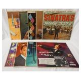 1155LOT OF NINE FRANK SINATRA ALBUMS; FRANK SINATRA IN THE WEE SMALL HOURS OF THE NIGHT, LOOK TO YO