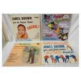 1157LOT OF FOUR JAMES BROWN ALBUMS ON KING RECORD LABEL; JUMP AROUND WITH JAMES BROWN, JAMES BROWN