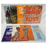 1158LOT OF SEVEN BLUES ALBUMS ON KING RECORD LABEL; JOHN LEE HOOKER SINGS THE BLUES, LETS HIDE AWAY