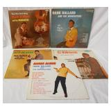 1159LOT OF FIVE HANK BALLARD ALBUMS ON KING RECORD LABEL; *MR. RHYTHM & BLUES* THE ONE & ONLY, DANC