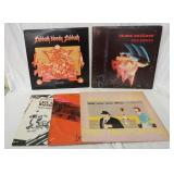 1174LOT OF 5 ALICE COOPER & BLACK SABBATH ALBUMS; PARANOID (GATEFOLD) SABBATH BLOODY SABBATH, PRETT
