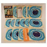 1181LOT OF 17 BRITISH JOHN MAYALL & THE BLUESBREAKERS 45S ALL ARE IN ORIGINAL SLEEVE, ONE HAS PICTU