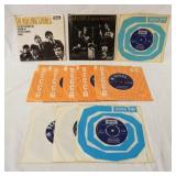 1182LOT OF NINE BRITTISH THE ROLLING STONES 45S & TWO E.PS; GOT LIVE IF YOU WANT IT & THE ROLLING S