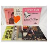 1190LOT OF SEVEN ALBUMS ON EXCELLO RECORD LABEL ALL ARE ORIGINALS; SLIM HARPO SINGS *RAINING IN MY