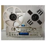 1239PIONEER REEL TO REEL DECK MODEL RT-909 W/MANUALS, POWERS UP, NO FURTHER TESTING DONE, ESTATE IT