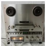 1240TEAC X-1000R REEL TO REEL TAPE DECK, POWERS UP, NO FURTHER TESTING DONE, ESTATE ITEMS SOLD AS I