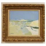 1002ROGER MUHL FRENCH (1929-2008) PAINTING OIL ON CANVAS OLIVERS, SIGNED LOWER LEFT, PAINTING SIZE