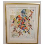 1014LEROY NEIMAN FRAMED SIGNED LITHOGRAPH, HARLEQUIN, IMAGE SIZE 28 1/4 IN X 37 1/4 IN, NUMBER 195/