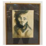 1026LUIS NERI ZAGAL FRAMED & SIGNED PAINTING TITLED *PINTURA NO. 3*, 1963, IMAGE SIZE 9 IN X 12 IN,