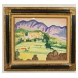 1032GEORGES MARCHOW WATERCOLOR SIGNED, IMAGE SIZE 17 1/2 IN X 14 1/2 IN, OVERALL DIMENSIONS 25 IN X