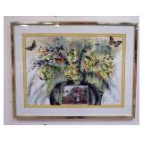 1054LITHOGRAPH INTERPRETIVE *LANDSCAPE FRUIT AND FLOWERS*, SIGNED AND NUMBERED. IMAGE SIZE 29 1/4 I